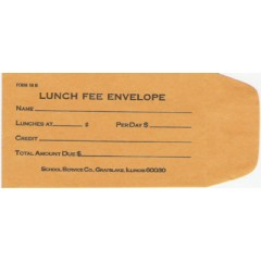 18B - Lunch Fee Envelope